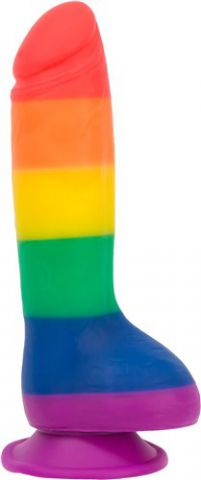 "Addiction 100% Silicone Justin 8"" Rainbow"