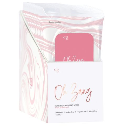Cg That's Some Zing Feminine Wipes w/ Stimulant 10 Pc Disp