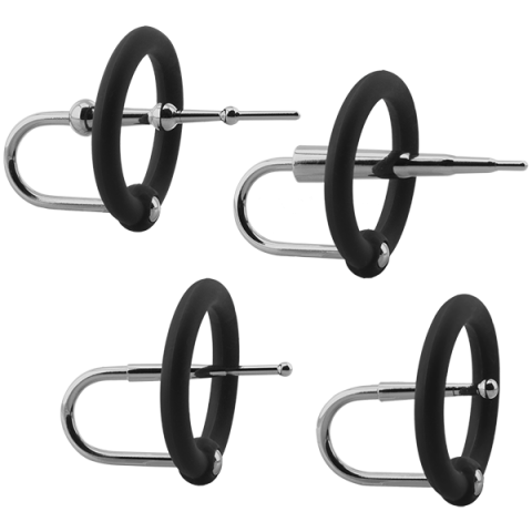 Kink Ring & Plug Set Silicone & Stainless Steel Cock Accessories
