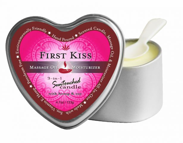 Candle 3-N-1 Heart First Kiss 4.7 Oz