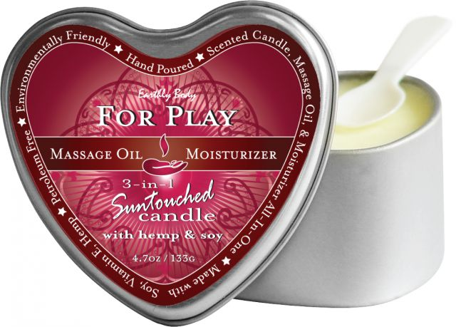 Candle 3-In-1 Heart for Play 4.7 Oz