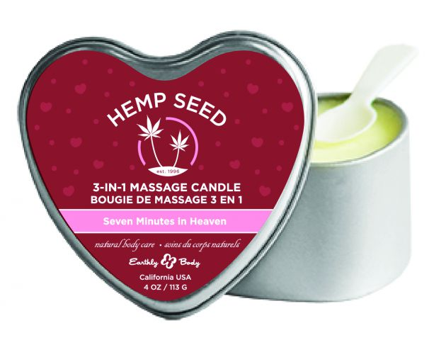 Candle 3-N-1 Heart Seven Minutes in Heaven 4.7 Oz