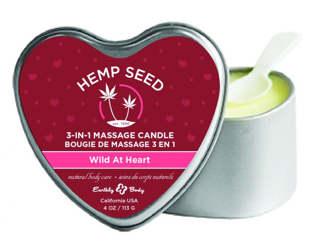 Candle 3 N 1 Heart Wild at Heart 4.7 Oz