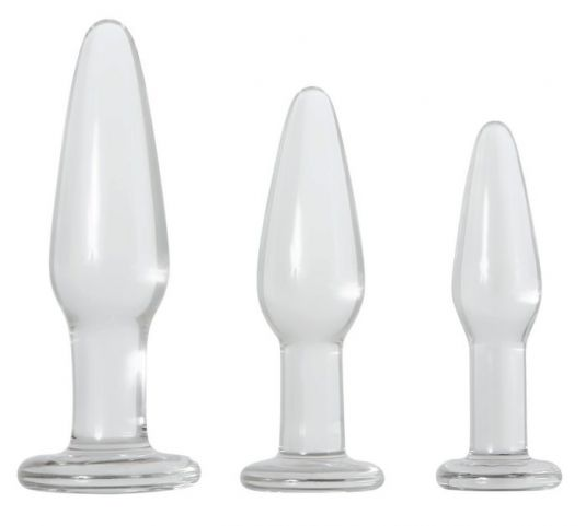 Adam & Eve Glass Anal Training Trio