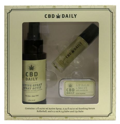 Cbd Daily Holiday Gift Set Includes 1ea. Salve/Serum 10ml /Activ