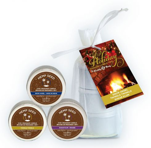 Holiday Candle Trio Bag w/ 2oz Each Twinkle Twinkle Snow Angel &