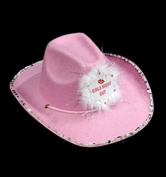 Cowboy Hat Girls Night Out Pink