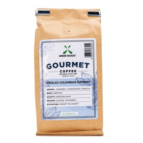 Cbd Dark Roast Gourmet Coffee 250mg 8oz