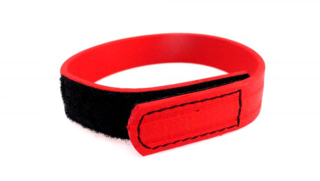 C Ring Biothane Velcro Red