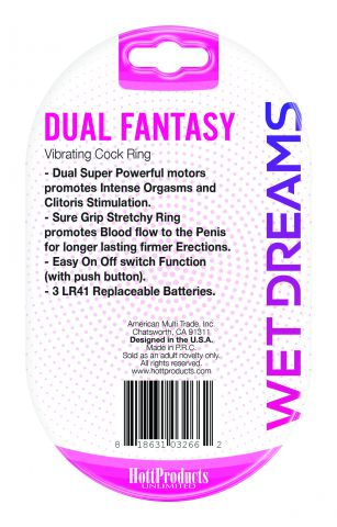 Wet Dreams Dual Fantasy Dual Cock Ring w/ Dual Motors