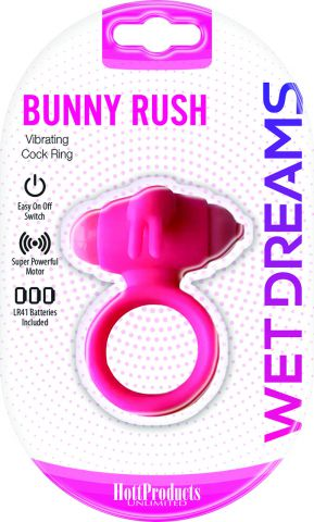 Wet Dreams Bunny Rush Cockring w/ Rabbit Ears