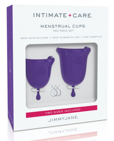 Jimmy Jane Intimate Care Menstrual Cups 2 Pc Purple