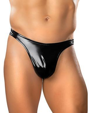 Rubber Classic Thong Extra Large (Liquid Onyx)