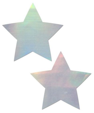 Pastease Holographic Star Silver