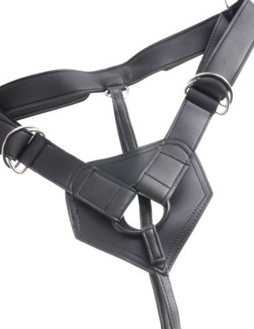 "King Cock Strap on Harness w/ 9"" Cock Tan"