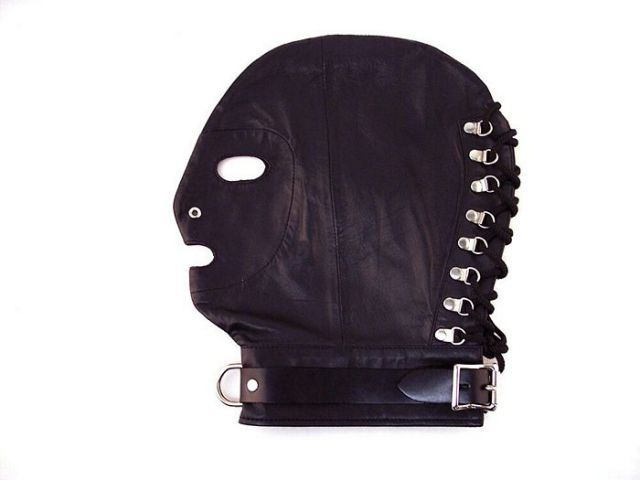Mask w/Collar Black