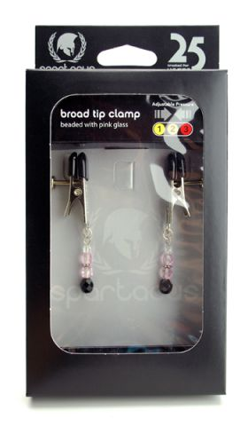 Adjustable Clamp w/Pink Beads