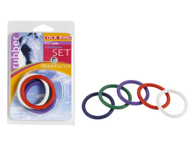 1 1/2in Soft C Rings Rainbow