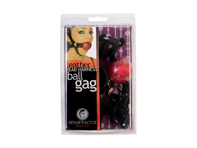Full Head 1-1/2in Red Ball Gag