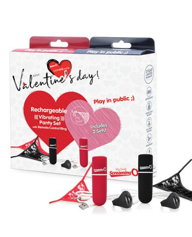 Screaming O Valentines Box 2020 2 Remote Vibrating Panty Set