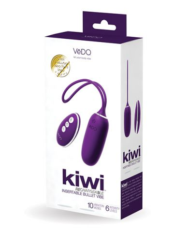 Vedo Kiwi Rechargeable Bullet Insertable Deep Purple